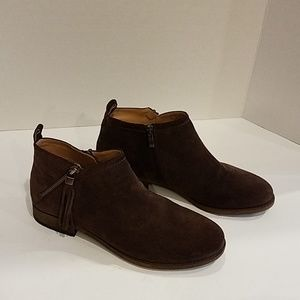 Franco Sarto brown suede ankle boot Sz 8